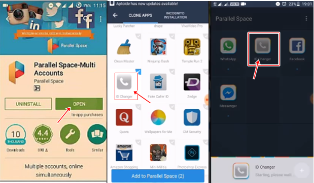 caller id changer with parallel space multi accounts