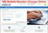sbi mobile number change online hindi