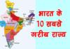 भारत के 10 सबसे गरीब राज्य