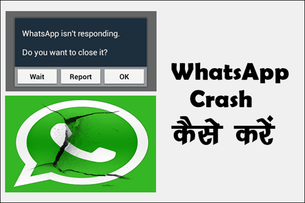 WhatsApp Crash कैसे करे