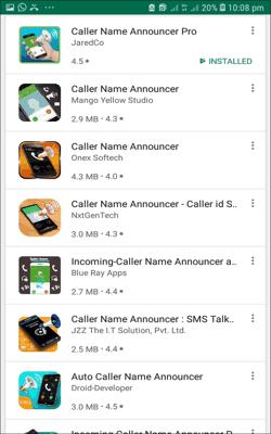 कॉल आने पर नाम बताने वाला ऐप्स