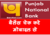 pnb bank account ka balance kaise check kare