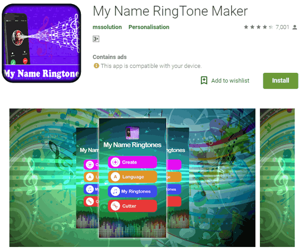 अपने नाम की रिंगटोन बनाने वाला ऐप्स डाउनलोड