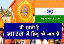 भारत में हिन्दू की जनसंख्या कितनी है