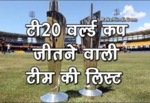 T20 वर्ल्ड कप जीतने वाली टीम