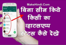 बिना Seen किये किसी का WhatsApp Status कैसे देखे