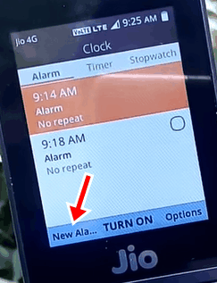 Jio Phone में Alarm कैसे लगाएं