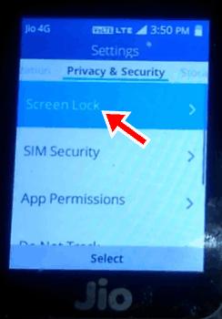 Jio Phone में Password Lock कैसे लगाये