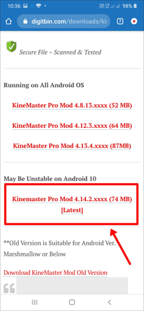 KineMaster का Watermark कैसे हटाये