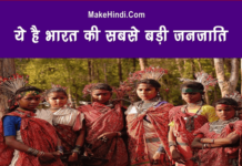 भारत की सबसे बड़ी जनजाति कौन सी है