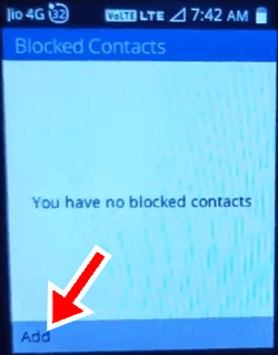 Jio Phone में नंबर ब्लॉक कैसे करें