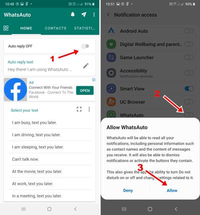 WhatsApp पर Auto Reply कैसे करें