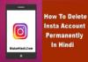 Instagram अकाउंट डिलीट कैसे करें