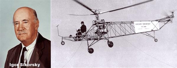 हेलीकॉप्टर का आविष्कार किसने किया था